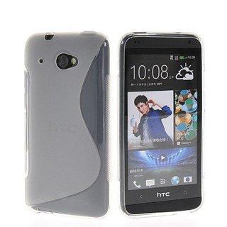 HTC Desire 601 siliconen S-line (gel) achterkant hoesje - Transparant