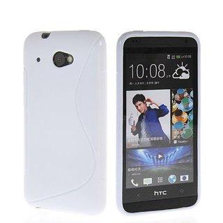 HTC Desire 601 siliconen S-line (gel) achterkant hoesje - Wit