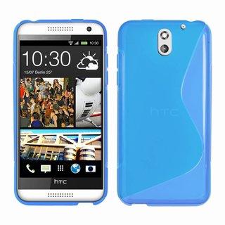 HTC Desire 610 siliconen S-line (gel) achterkant hoesje - Blauw