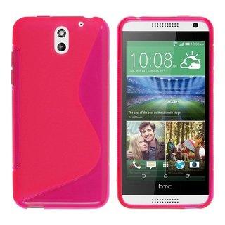 HTC Desire 610 siliconen S-line (gel) achterkant hoesje - Roze