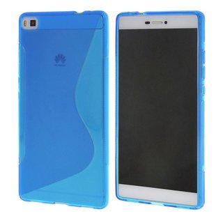 Huawei P8 siliconen S-line (gel) achterkant hoesje - Blauw