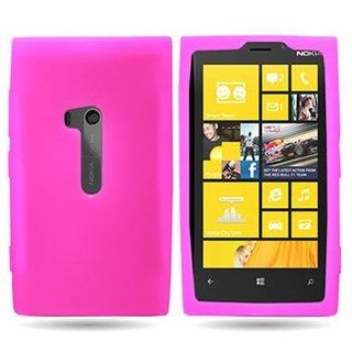 Nokia Lumia 920 siliconen (gel) achterkant hoesje - Roze