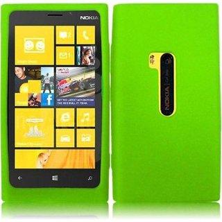 Nokia Lumia 920 siliconen (gel) achterkant hoesje - Groen