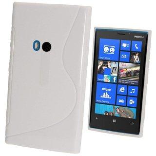 Nokia Lumia 920 siliconen S-line (gel) achterkant hoesje - Wit
