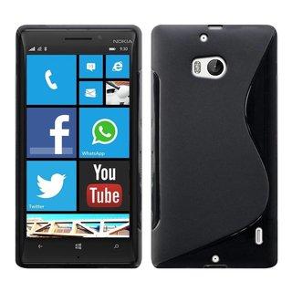 Nokia Lumia 930 / 929 siliconen S-line (gel) achterkant hoesje - Zwart