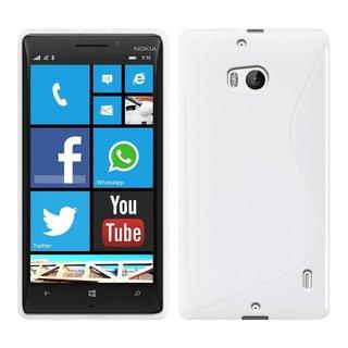 Nokia Lumia 930 / 929 siliconen S-line (gel) achterkant hoesje - Wit