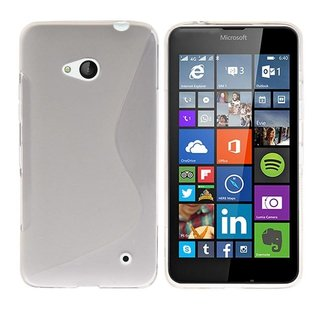 Nokia Lumia 640 / Microsoft Lumia 640 siliconen S-line (gel) achterkant hoesje - Transparant