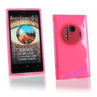 Nokia Lumia 1020 / Microsoft Lumia 1020 siliconen S-line (gel) achterkant hoesje - Roze