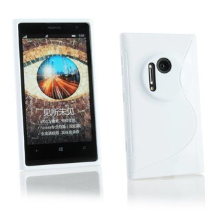 Nokia Lumia 1020 / Microsoft Lumia 1020 siliconen S-line (gel) achterkant hoesje - Wit