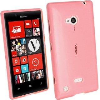 Nokia Lumia N720 / Microsoft Lumia 720 siliconen (gel) achterkant hoesje - Roze