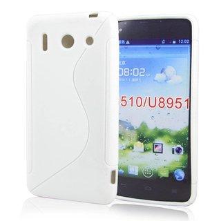 Huawei Ascend G510 siliconen S-line (gel) achterkant hoesje - Wit