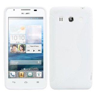 Huawei G520 siliconen S-line (gel) achterkant hoesje - Wit