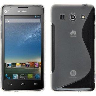 Huawei G520 siliconen S-line (gel) achterkant hoesje - Transparant