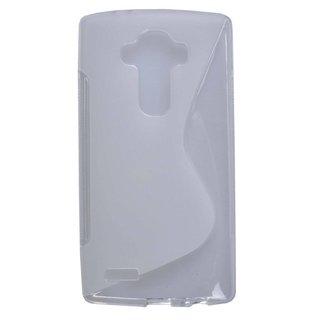 LG G4 siliconen S-line (gel) achterkant hoesje - Transparant