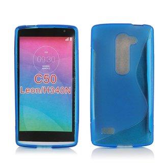 LG Leon siliconen S-line (gel) achterkant hoesje - Blauw