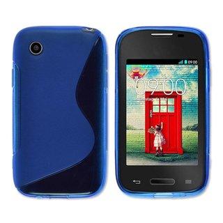 LG L40 siliconen S-line (gel) achterkant hoesje - Blauw