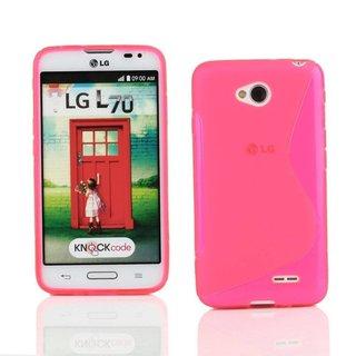 LG L70 / L65 siliconen S-line (gel) achterkant hoesje - Roze