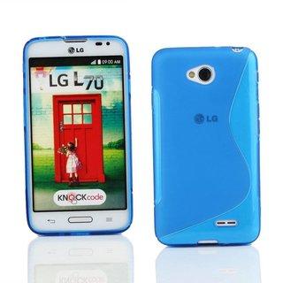 LG L70 / L65 siliconen S-line (gel) achterkant hoesje - Blauw