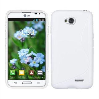 LG L70 / L65 siliconen S-line (gel) achterkant hoesje - Wit