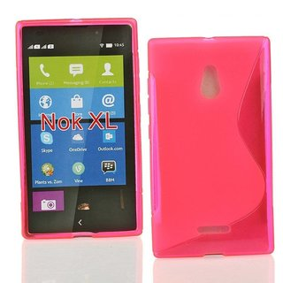 Nokia Lumia XL siliconen S-line (gel) achterkant hoesje - Roze