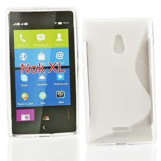 Nokia Lumia XL siliconen S-line (gel) achterkant hoesje - Transparant