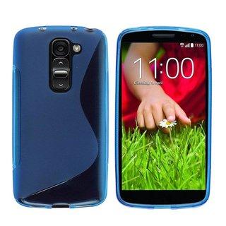 LG G2 Mini siliconen S-line (gel) achterkant hoesje - Blauw