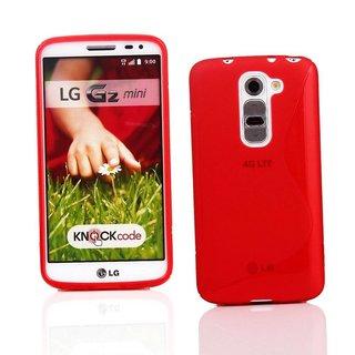 LG G2 Mini siliconen S-line (gel) achterkant hoesje - Rood