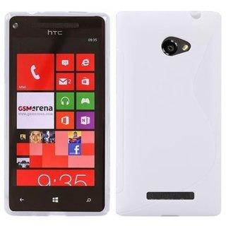 HTC 8X / C620E siliconen S-line (gel) achterkant hoesje - Wit