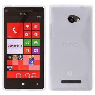 HTC 8X / C620E siliconen S-line (gel) achterkant hoesje - Transparant
