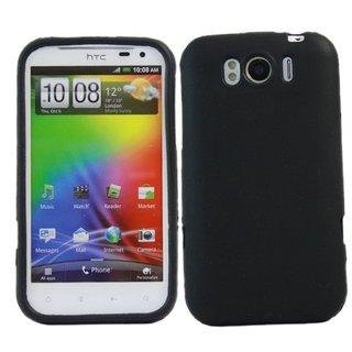 HTC Sensation XL siliconen (gel) achterkant hoesje - Zwart