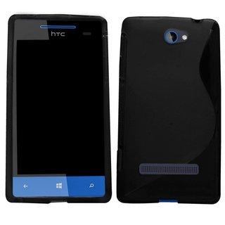 HTC 8S siliconen S-line (gel) achterkant hoesje - Zwart