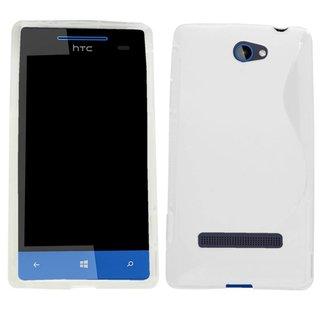 HTC 8S siliconen S-line (gel) achterkant hoesje - Wit