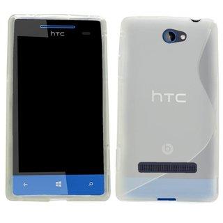 HTC 8S siliconen S-line (gel) achterkant hoesje - Transparant