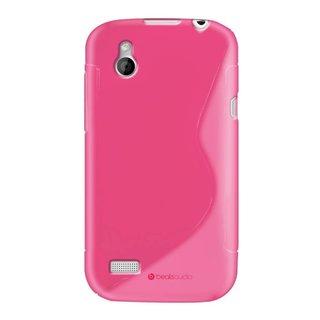 HTC Desire X S-line (gel) achterkant hoesje - Roze