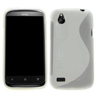 HTC Desire X S-line (gel) achterkant hoesje - Transparant