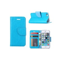Bookcase Apple iPhone 5 / 5S en SE hoesje - Blauw