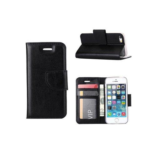 Bookcase Apple iPhone 5 / 5S en SE hoesje - Zwart