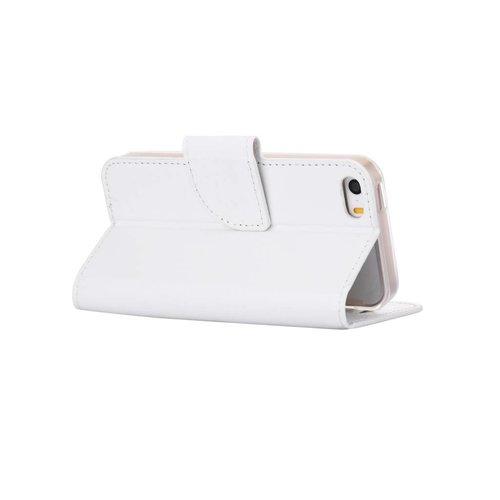 Bookcase Apple iPhone 5 / 5S en SE hoesje - Wit