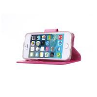Bookcase Apple iPhone 5 / 5S en SE hoesje - Roze