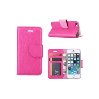 Bookcase Apple iPhone 5 / 5S en SE hoesje - Roze