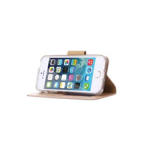 Bookcase Apple iPhone 5 / 5S en SE hoesje - Goud