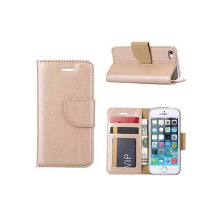 Bookcase Apple iPhone 5 / 5S en SE hoesje - Goud