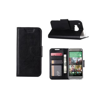Bookcase HTC One M9 hoesje - Zwart