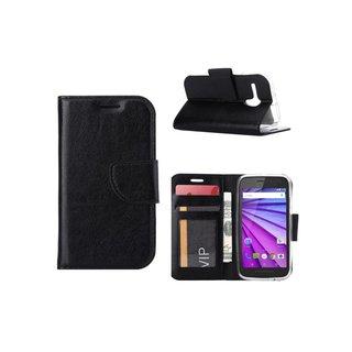 Bookcase Motorola Moto G hoesje - Zwart