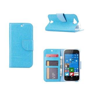 Luxe Lederen Bookcase hoesje voor de Acer Liquid Jade - Blauw