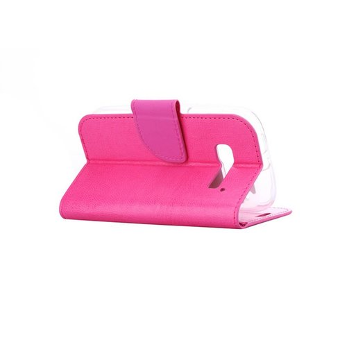 Bookcase Alcatel One Touch Pop C5 hoesje - Roze