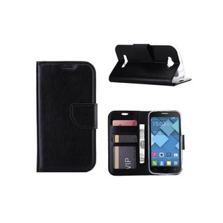Bookcase Alcatel One Touch Pop C7 hoesje - Zwart
