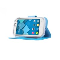 Bookcase Alcatel One Touch Pop C5 hoesje - Blauw