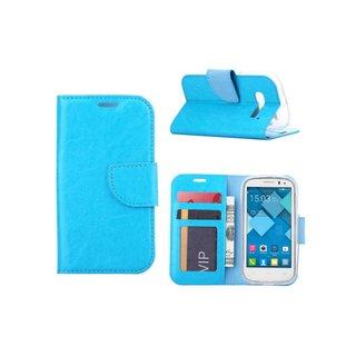 Bookcase Alcatel One Touch Pop C5 hoesje - Blauw