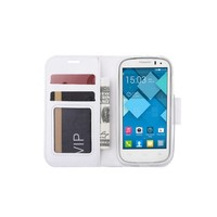 Bookcase Alcatel One Touch Pop C7 hoesje - Wit
